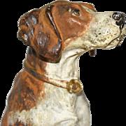 "Vintage Vienna Bronze Hunting Dog Figurine ~7"""