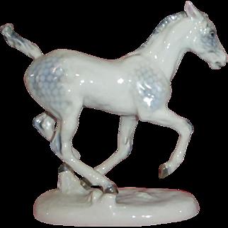 Rosenthal Hussmann Running Foal Horse Figurine - Colored Version