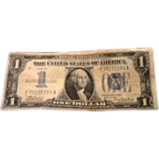 $1.00 Silver Certificate Note with Funny Back