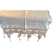 Tatted Dresser Scarf With Tassels