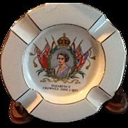 1953 Souvenir Ashtray Queen Elizabeth