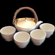 Noritake  White and Gold Tea or Sake Set