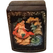 Russian Lacquered Ring Box  The Frog Princess