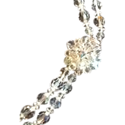 Double Strand Crystal Aurora Borealis Necklace