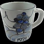 Royal Copenhagen Small Annual Mug 1974