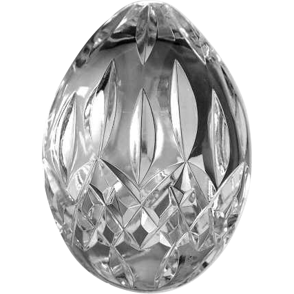 Waterford Crystal Egg Sold On Ruby Lane