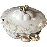 Haviland Limoges France-Covered Footed Soup Tureen
