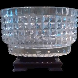 German Cut Crystal Bowl