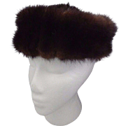 Vintage Mink Pill Box Fur Hat