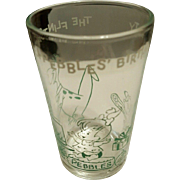 Flintstones Green Pebbles Birthday Party Welch's Jelly Glasses