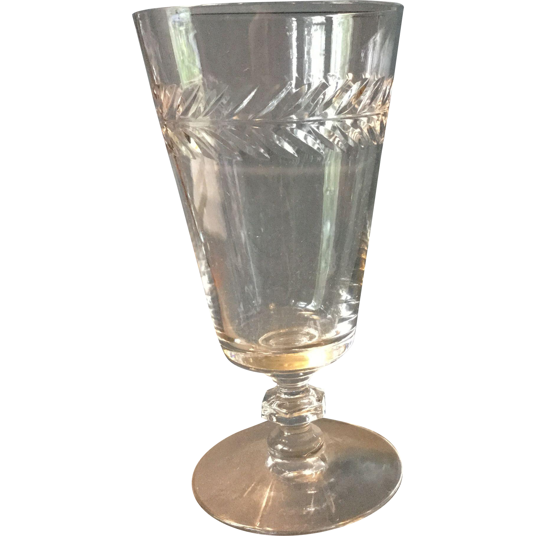 Vintage Crystal Water Ice Tea Wine Glasses From