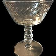 Vintage Crystal  Champagne/ dessert glasse