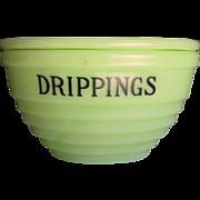 Jeannette Jadeite Lidded Drippings Bowl