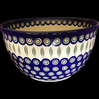 Boleslawiec Pottery Large Mixing Bowl