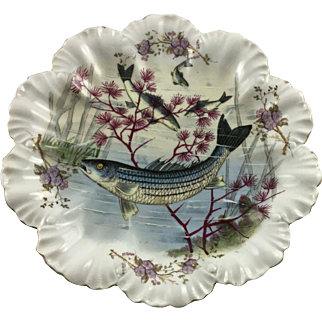 Antique Carlsbad Striped Bass Plate