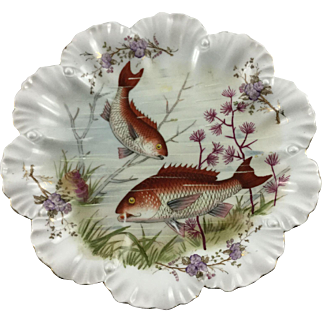 Antique Carlsbad Plate Red Snapper