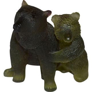 Daum Crystal Green Mother and Cub