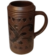 Gerz  German Stein , Tankard, Mug  Brown and Black