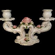 Vintage 19th century German pair of candelabras.