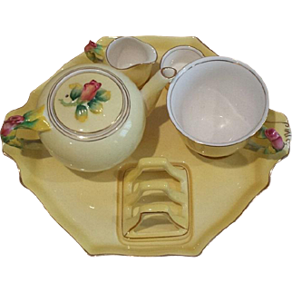 Vintage chintz breakfast tea set. Royal Winton. Made in England