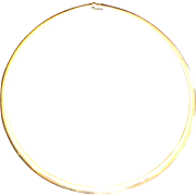Ladies 14kt yellow gold 18 inch omega style collar necklace. Appraisal $4,500.00.