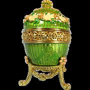 Joan Rivers Hidden Treasures Timepiece Love Trophy Egg