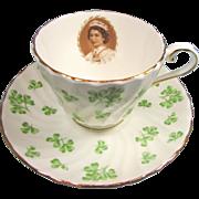 Rare Aynsley Coronation Shamrock Cup and Saucer