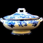 Royal Doulton Flow Blue Madras Antique Soup Tureen