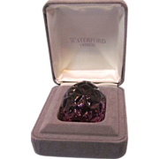 Waterford Amethyst Crystal Egg Paperweight