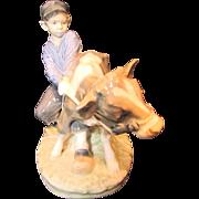 Royal Copenhagen Figurine Boy With Calf 772 Signed Christien Thomsen