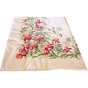 Caliprint Mid Century Pink Iris Tablecloth