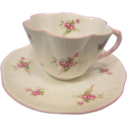 Shelley Bridal Rose China Cup and Saucer