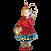 Pending Sale  Little Red Riding Hood Hand Blown Polonaise Ornament Group by Kurt S. Adler LE