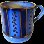 Wagon Wheel Flow Blue and Copper Lustre Mug