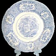 "Ridgways England Oriental Pattern 9 1/2"" Blue & White Plates ca 1890"