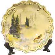 RS Prussia Scenic Cabinet Plate with Pheasant