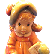 Anri Sarah Kay Wood Carved Letter to Santa Figurine LE Signed S Murer