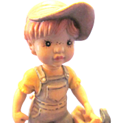 Dad's Helper Anri Sarah Kay Hand Carved Wood Figurine