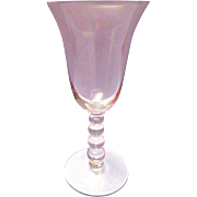 "Imperial Glass Candlewick Water Goblet 7 3/8"" 3400 Line"