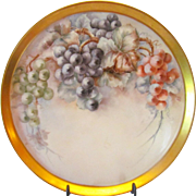 Antique Tressemann and Vogt Limoges Hand Painted Grapes Tray Charger