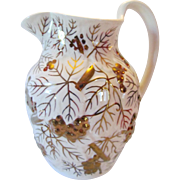 Wedgwood Gold  Embossed Milk Pitcher