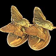 Bronze Clad Butterfly Bookends Philidelphia MFG