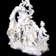 Nymphenburg Rococo Blanc de Chine Pastoral Group