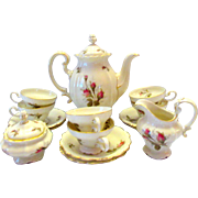 Rosenthal Moss Rose 17 Piece Mini Expresso Coffee Set