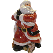 1994 Fitz and Floyd Old World Santa Centerpiece Figurine Vase