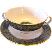 Royal Doulton China Carlyle Cream Bowl and Stand