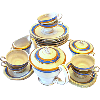 Fine China Tea and Dessert Service For Six Ohata China 23 Pcs