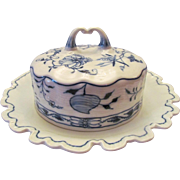 Meissen Blue Onion Butter Dish with Cover