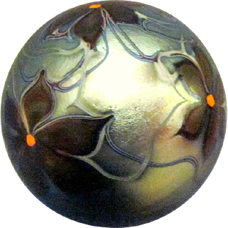 1975 Orient and Flume Iridescent Paperweight