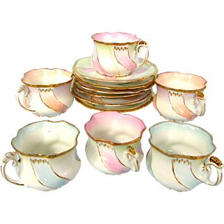 Demitasse Cups and Saucers Set of Six Unmarked